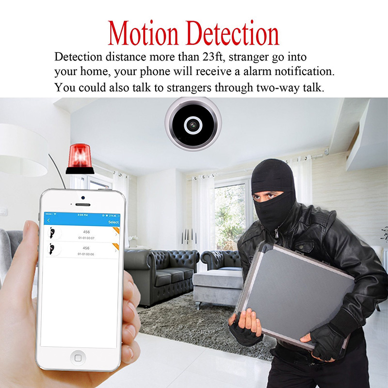 360-Degree IP Camera - Motion Detection, Wireless, Night Vision