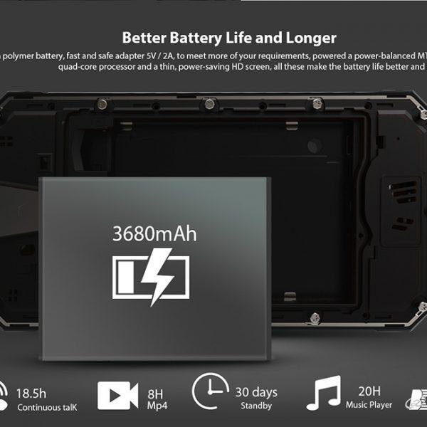 Rugged phone battery