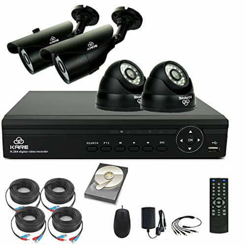 4 Camera CCTV kit DVR 4 Outdoor Cameras
