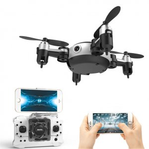 mini camera drone led lights