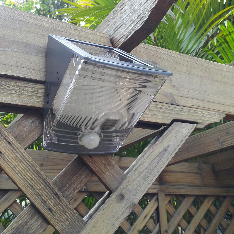 Outdoor Solar Powered Security Light Silicon Solar Panel