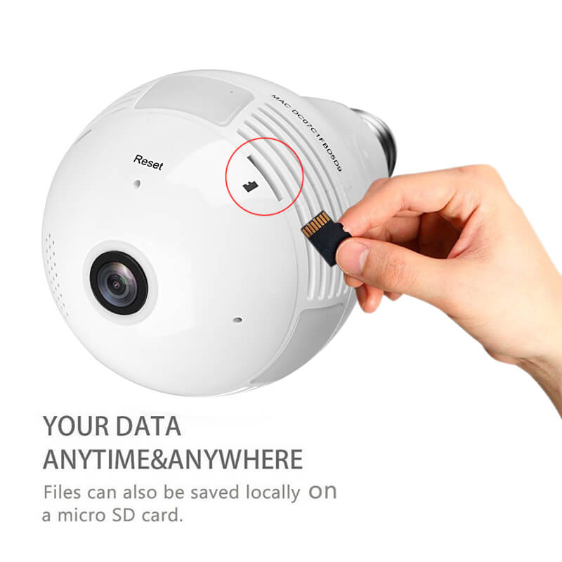 LED Light Bulb Security Camera - 360-Degree Fisheye-CTS Systems