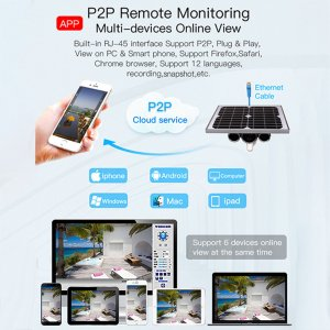 Wanscam HW0029-5 Outdoor Solar Powered Security IP Camera