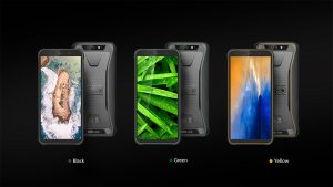 BlackView BV5500 black green yellow